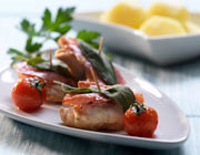 Monkfish saltimbocca